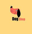 One logo dog portrait the pet store vector image vector image
