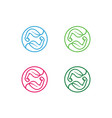 organic-muscles-logo vector image vector image