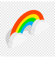 rainbow and clouds isometric icon vector image