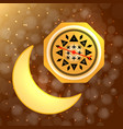 ramadan kareem moon and compass vector image