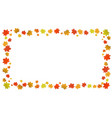 rectangular vertical frame of autumn leaves on a vector image
