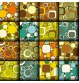 retro seamless patterns collection vector image vector image