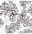 Seamless floral pattern black and white 2 vector image vector image