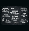 set christmas and happy new year lettering vector image