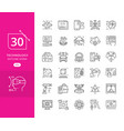set line icons in flat design future techno vector image vector image