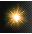Shining star Bright sun light lens flare effect vector image vector image