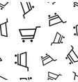 shopping cart seamless pattern background vector image vector image