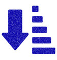 sort down arrow icon grunge watermark vector image vector image