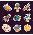 Space stickers set vector image