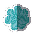 sticker color sketch of flower with stripes vector image vector image