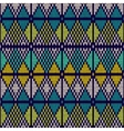 Style Seamless Knitted PatternBlue White Yellow vector image