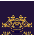 template with vintage gold luxury ornament and vector image
