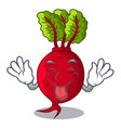 tongue out whole beetroots with green leaves vector image vector image