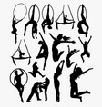 training silhouette vector image vector image