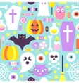 Trendy Colors Halloween Seamless Pattern vector image