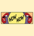 two female mouth shout wow vector image vector image