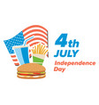 usa independence day banner vector image vector image