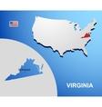 Virginia vector image vector image
