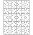 white puzzle 3 vector image vector image