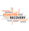 word cloud disaster recovery vector image vector image
