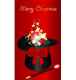 xmas magic hat vector image vector image
