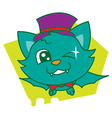 Green Bat vector image