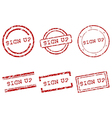 Sign up stamps vector image