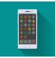 Smartphone enabled on the home screen vector image