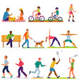 active people woman or man character in vector image vector image