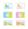 Baby Shower Stamps vector image vector image