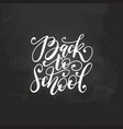 back to school handwritten on vector image vector image