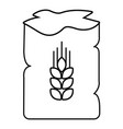 bag wheat icon outline style vector image vector image