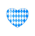bavarian flag icon in form heart isolated on vector image