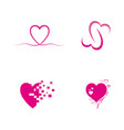 beauty love design vector image vector image