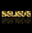 believe word concept vector image