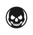 black circle skull death face symbol design vector image vector image