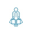 buying clothes linear icon concept buying clothes vector image vector image