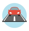 Car on the road icon flat vector image vector image