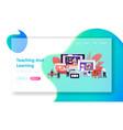 characters watch video courses get online vector image vector image