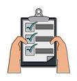 checklist board document vector image
