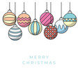 christmas greeting card design vector image