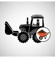construction truck concept wheelbarrow design vector image vector image