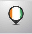 cote d ivoire ivory coast map pin vector image vector image