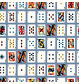 creative cards playing design seamless pattern vector image