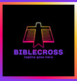 cross bookmark icon bible book logotype simple vector image vector image