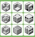 cube icon set 3 vector image vector image