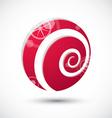 Curl symbol abstract icon 3d symbol vector image