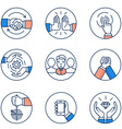 Customer relationship management icons vector image