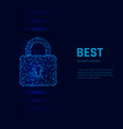 cyber security system concept closed padlock vector image vector image