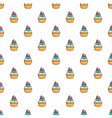 delicious cupcake with cream pattern vector image vector image